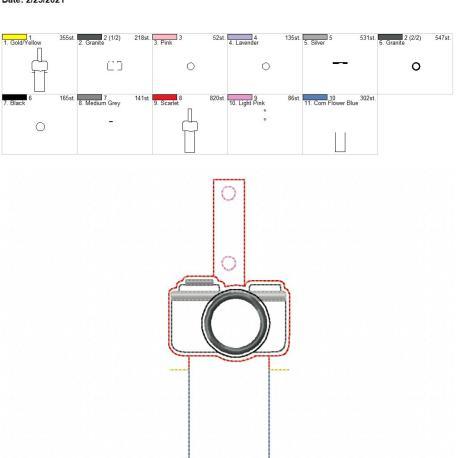 Applique Camera Lip Balm holder 5×7