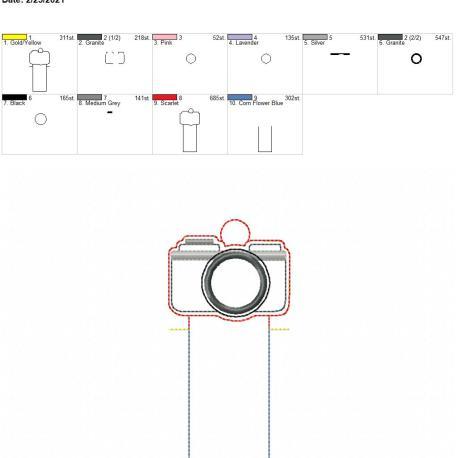 Applique Camera Lip Balm holder eyelet 5×7