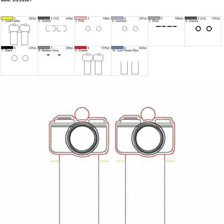 Applique Camera Lip Balm holder eyelet 5×7 grouped