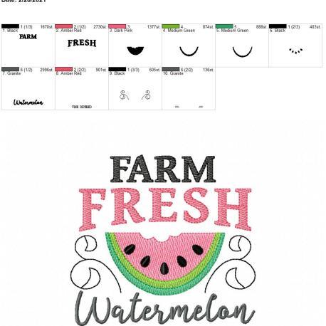 Farm fresh watermelon 5×7