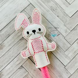 Sitting Bunny Pencil Toppers 4×4 and 5×7 included- DIGITAL Embroidery DESIGN