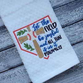 Let the field be joyful- 2 sizes- Digital Embroidery Design