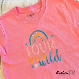 Boho Four Ever Wild- 4 sizes- Digital Embroidery Design