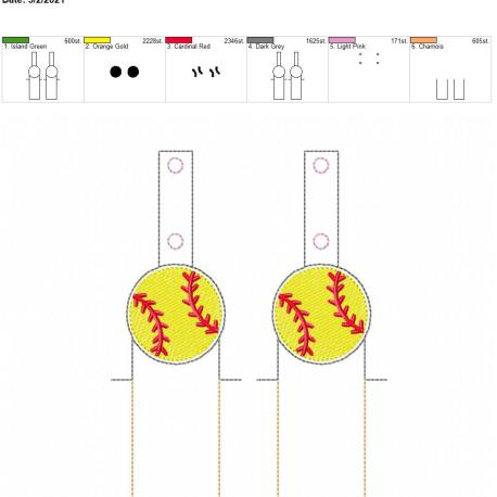 Baseball lip balm holder 5×7 grouped