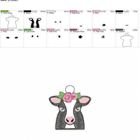 Floral Cow Eyelet 4×4
