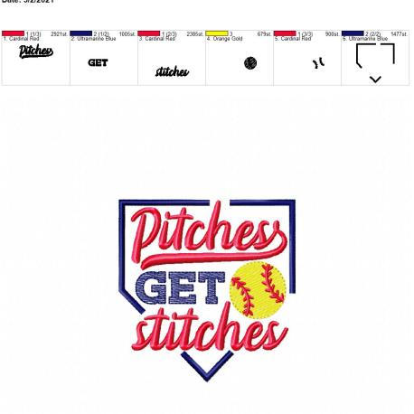 Pitches get stitches 4×4