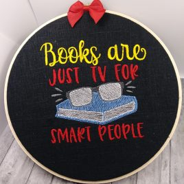 TV for smart people – 3 sizes- Digital Embroidery Design