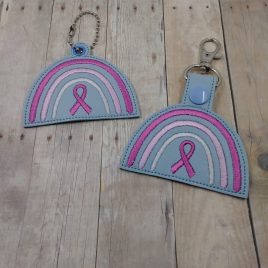 Boho Rainbow Awareness Ribbon Fobs – DIGITAL Embroidery DESIGN