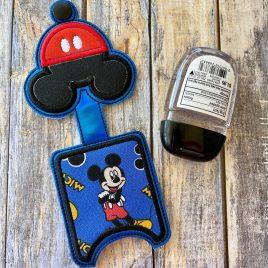 Mr. Mouse Applique Fold Over Sanitizer Holder 5×7- DIGITAL Embroidery DESIGN