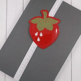Strawberry Book Band – Embroidery Design, Digital File