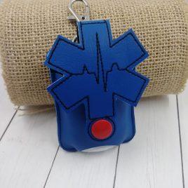 EMS Applique Fold Over Sanitizer Holder 5×7- DIGITAL Embroidery DESIGN
