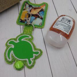 Sea Turtle Applique Fold Over Sanitizer Holder 5×7- DIGITAL Embroidery DESIGN