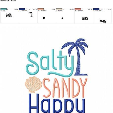 Salty Sandy Happy 5×7