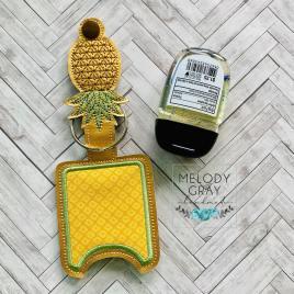 Pineapple Applique Fold Over Sanitizer Holder 5×7- DIGITAL Embroidery DESIGN