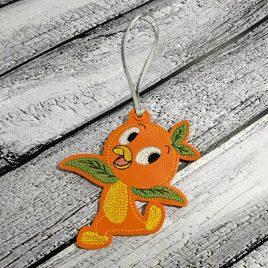 Orange Bird Ornament – Digital Embroidery Design