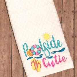 Poolside Cutie – 3 sizes- Digital Embroidery Design