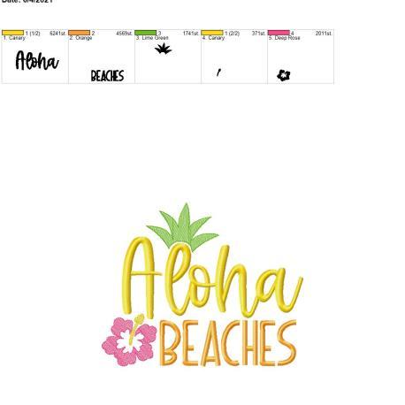 Aloha Beaches 8×12