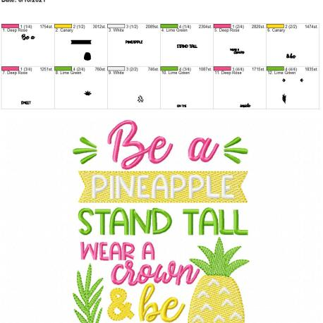 Be a pineapple 5×7