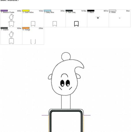 Cute Boy Ghost AFOSH 5×7