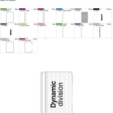 Dynamic Division zipper bag 5×7