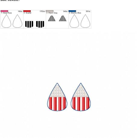 Stars and stripes earrings 1.75 inch