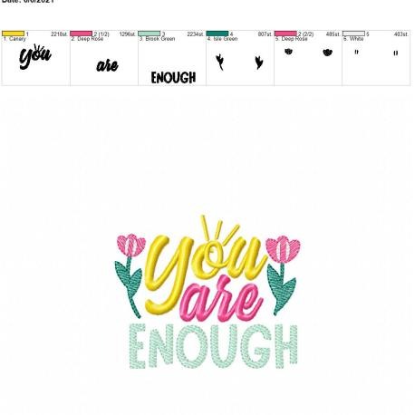 You are enough 4×4