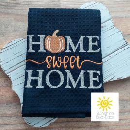 Home Sweet Home Pumpkin – 4 sizes- Digital Embroidery Design