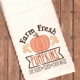 Farm Fresh Pumpkins – 3 sizes- Digital Embroidery Design