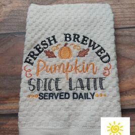 Fresh Brewed PSL – 3 sizes- Digital Embroidery Design