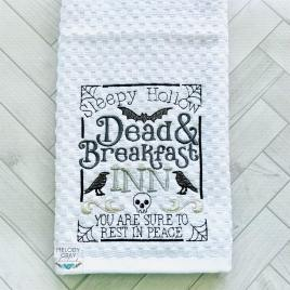 Dead and Breakfast – 3 sizes- Digital Embroidery Design