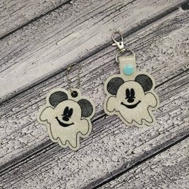 Ghost Mouse Fobs – DIGITAL Embroidery DESIGN