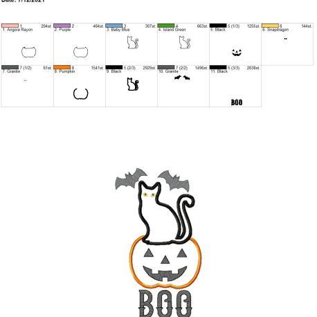 Bat Cat Boo 6×10