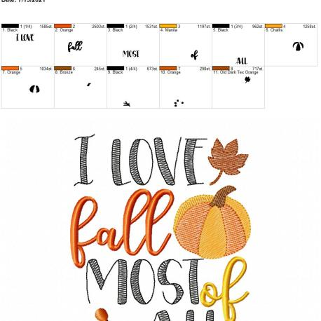 I love fall most of all 5×7