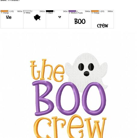 The boo crew 5×7