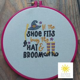 If the Shoe Fits Sketch – 4 sizes- Digital Embroidery Design