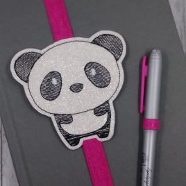 Kawaii Panda Book Band – Embroidery Design, Digital File
