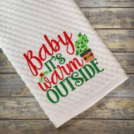 Baby it's warm outside – 3 sizes- Digital Embroidery Design