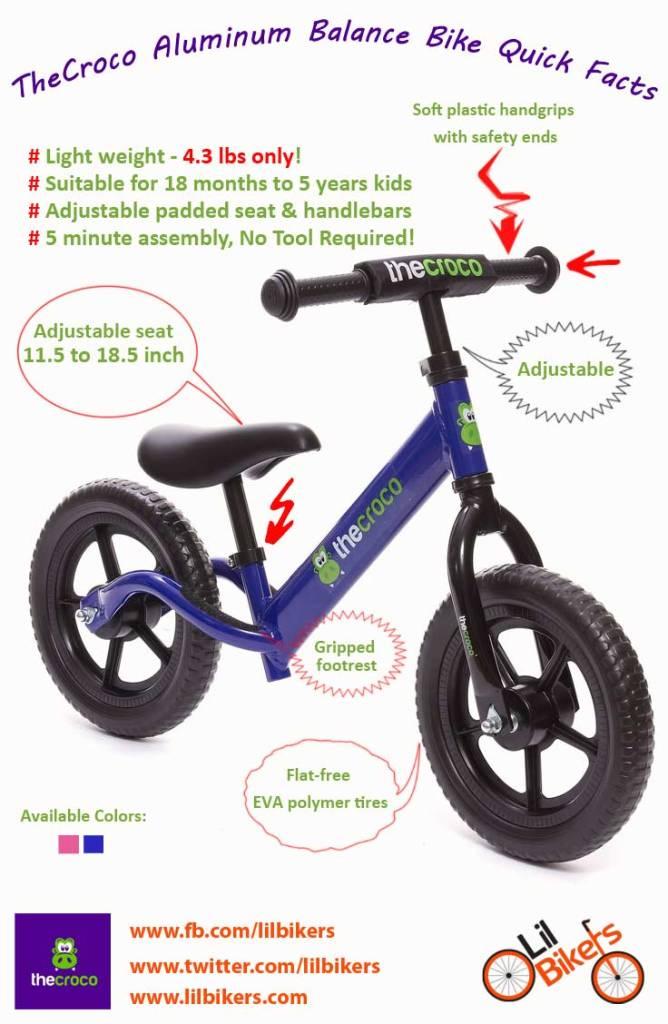 croco balance bike quick facts