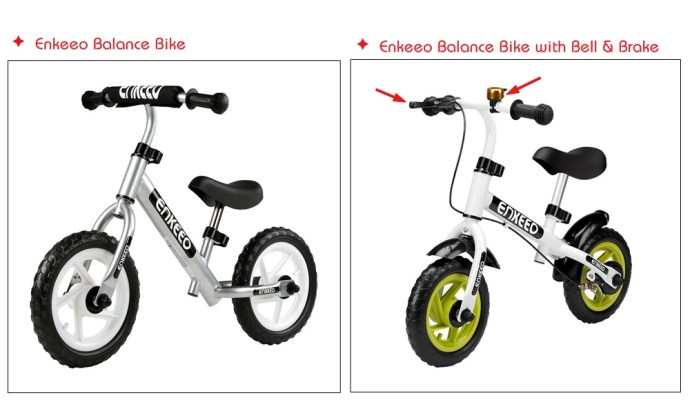 Enkeeo balance bike comparison