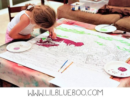 Oversized DIY paint by number via lilblueboo.com