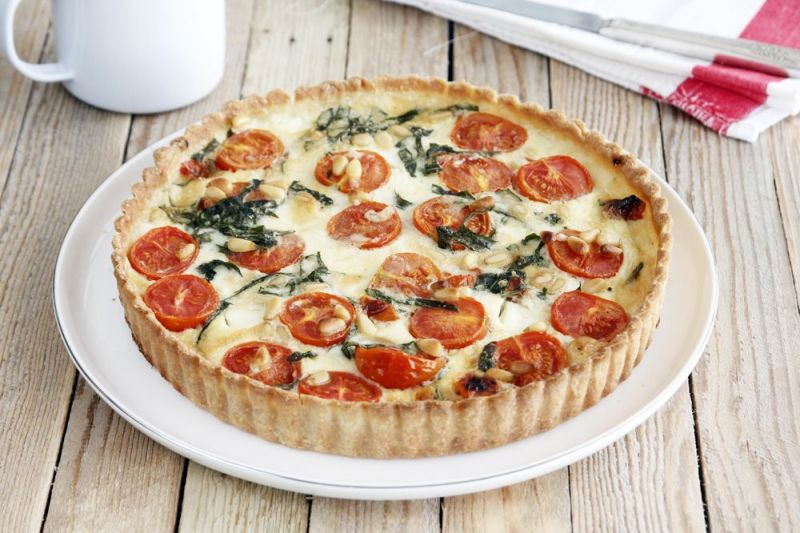 Cherry Tomato Mozzarella Quiche
