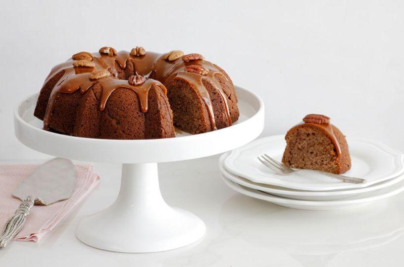 Date Cake with Salted Caramel Glaze