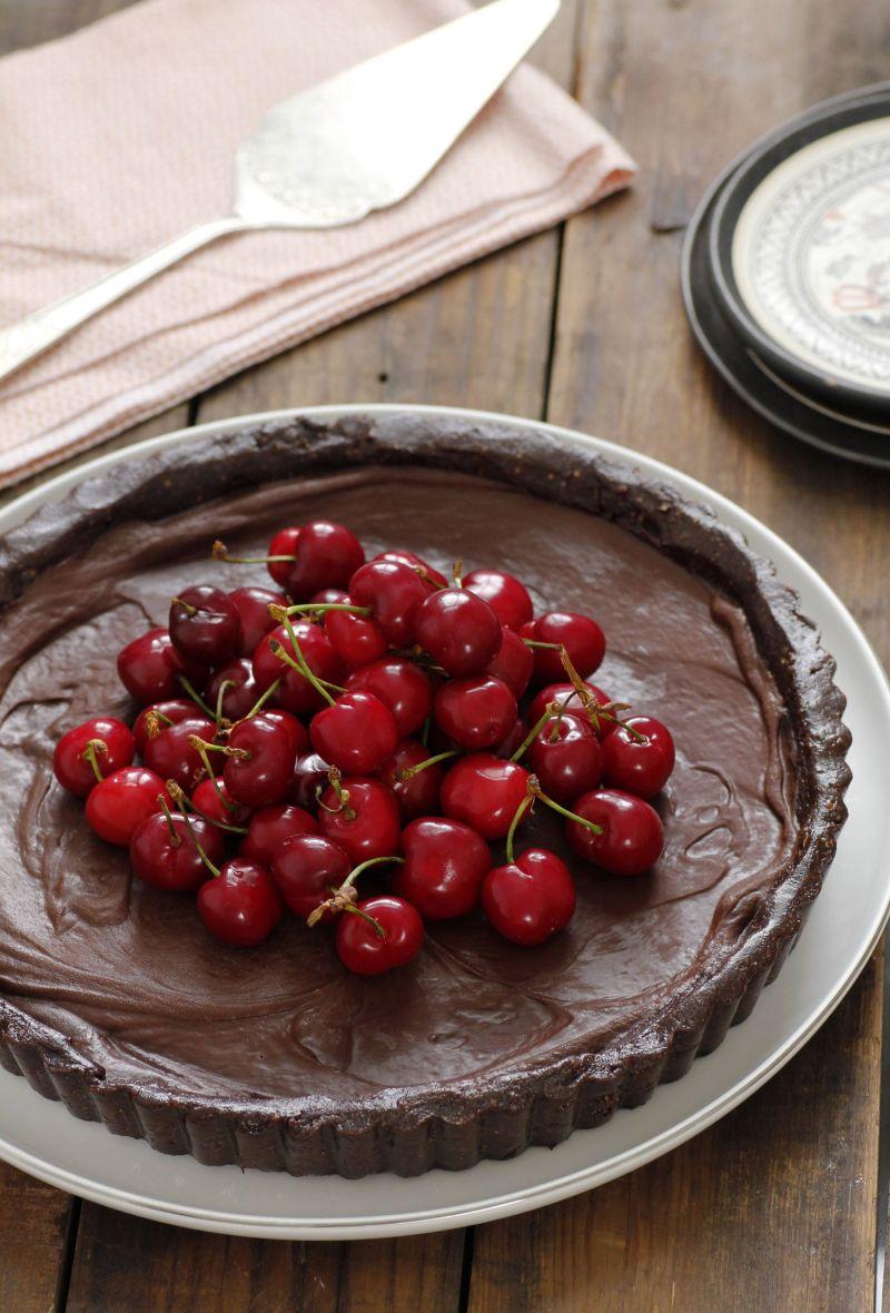 Vegan Chocolate and Cherry Pie