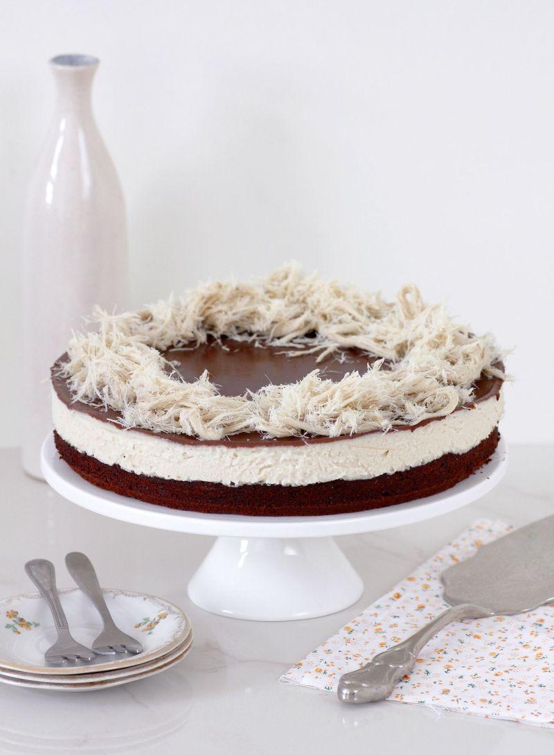 Tahini Chocolate Cream Cake