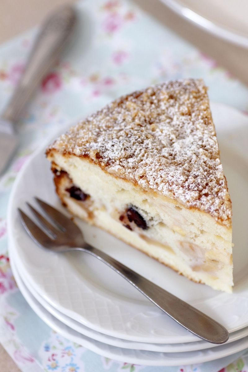Ricotta Apple Cake with Streusel Topping