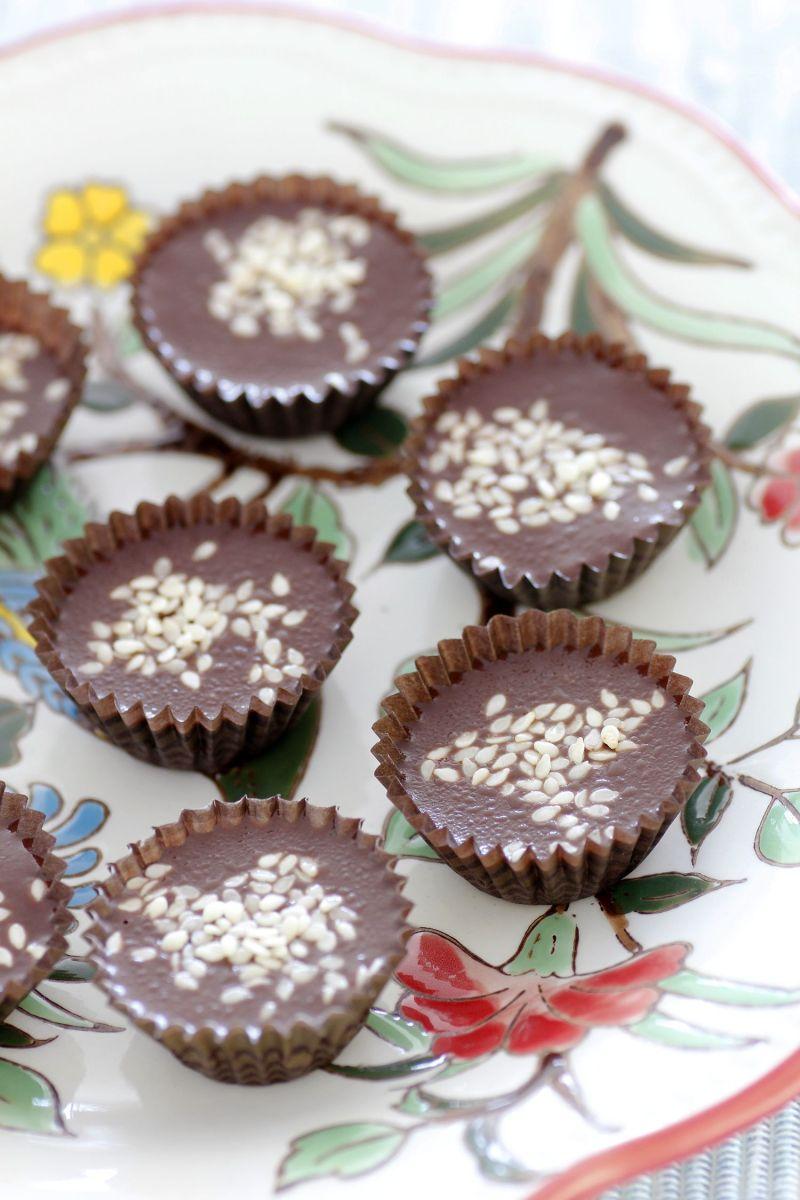 Tahini Chocolate Fudge
