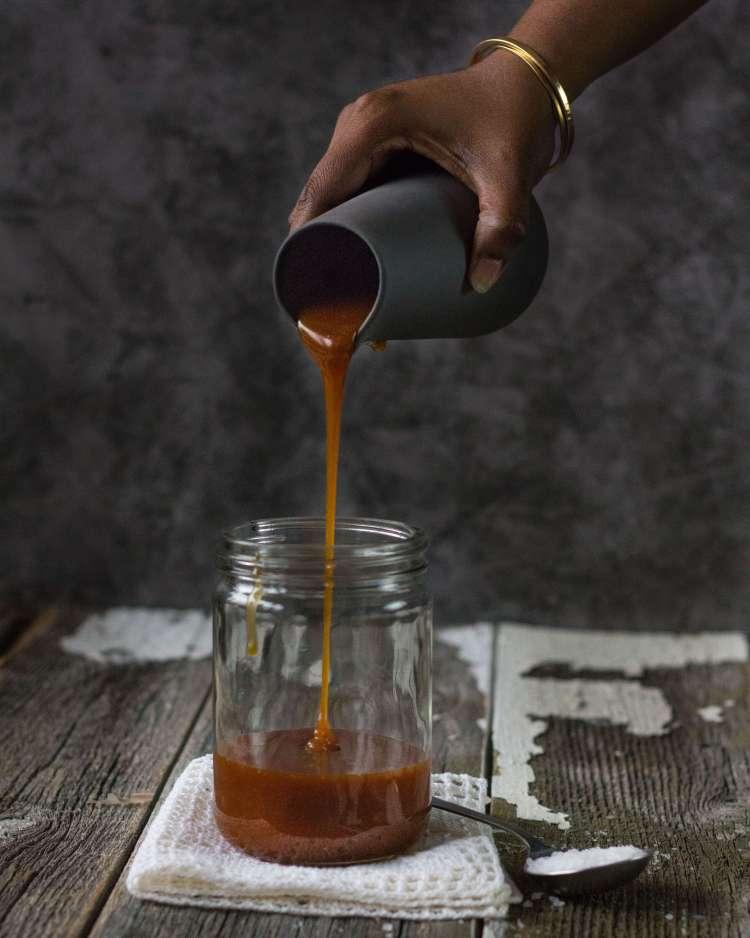 Homemade Salted Caramel sauce | lilcupcakemonkey.com