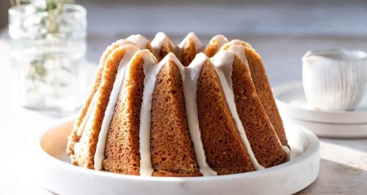 Brown butter bourbon bundt cake