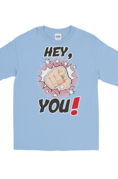 "Handwritings ""Hey, you !"" - T-shirt manches longues Homme et Femme (Unisexe)"
