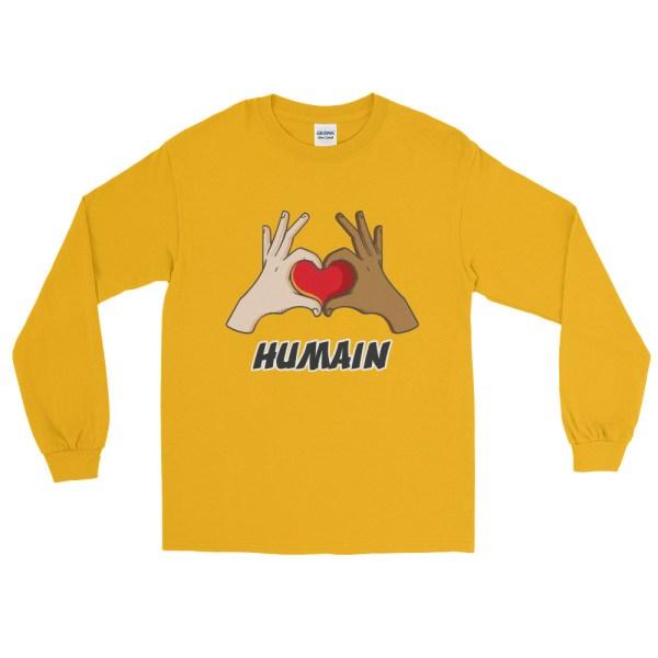 "Handwritings ""Humain"" - T-shirt manches longues Homme et Femme (Unisexe)"